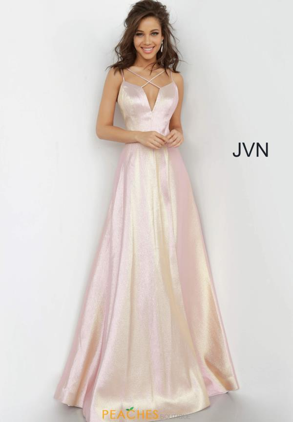 JVN by Jovani V-Neck Glitter Dress JVN3779