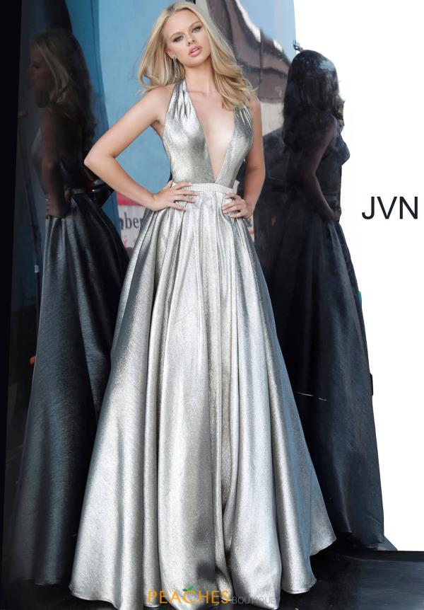 JVN by Jovani V-Neck Long Dress JVN4187