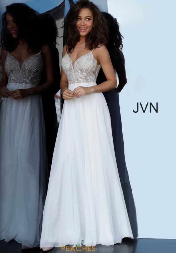JVN by Jovani V-Neck Beaded Dress JVN4395