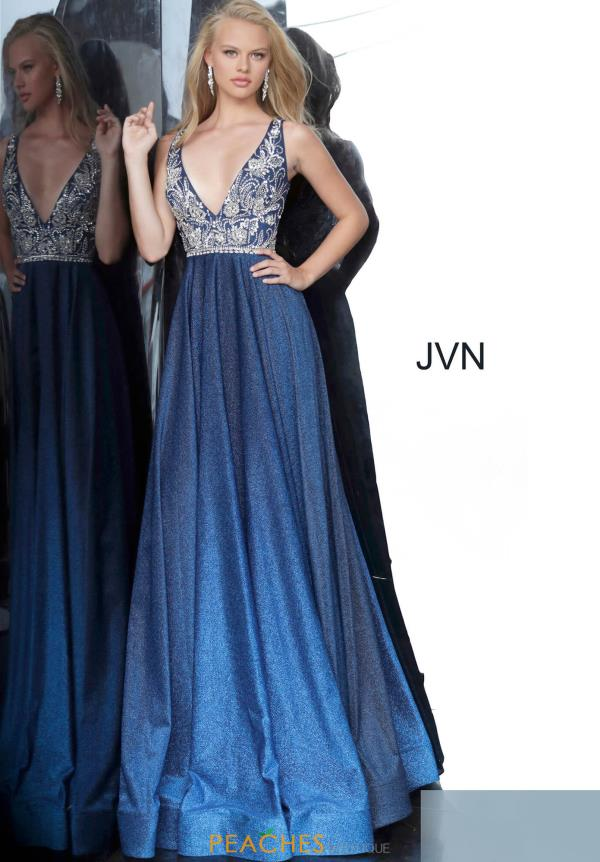 JVN by Jovani A Line Glitter Dress JVN4608