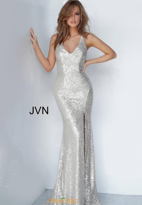 JVN by Jovani V-Neck Sequins Dress JVN4707