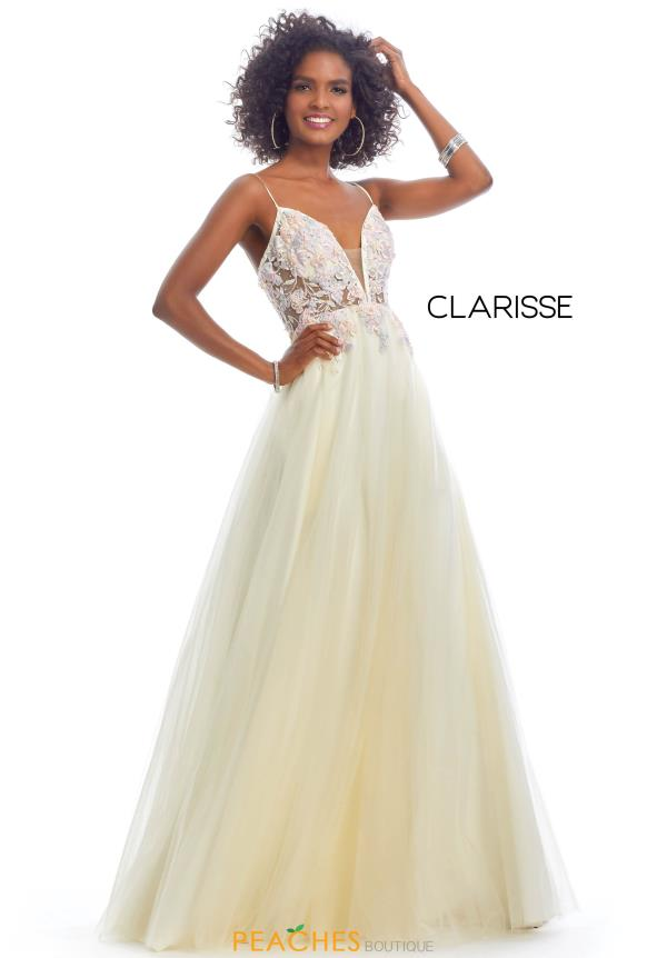 Clarisse Beaded A Line Dress 8035
