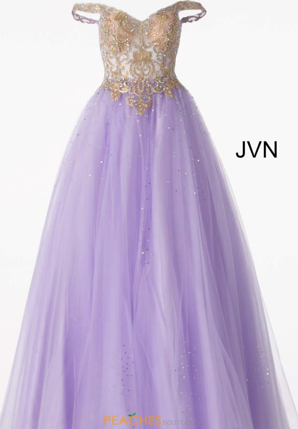 JVN by Jovani Cap Sleeved Beaded Dress JVN58403