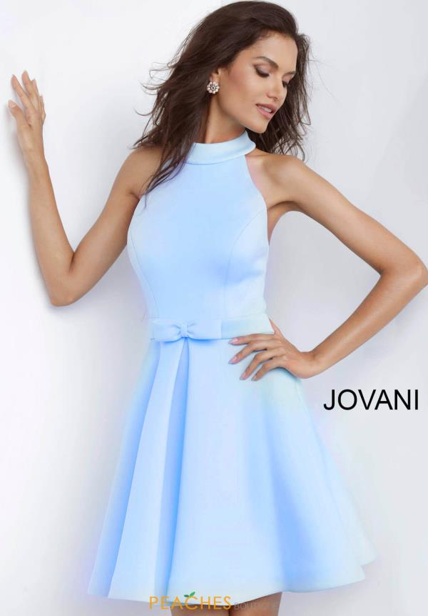 Jovani Short High Neckline A Line Dress 1187