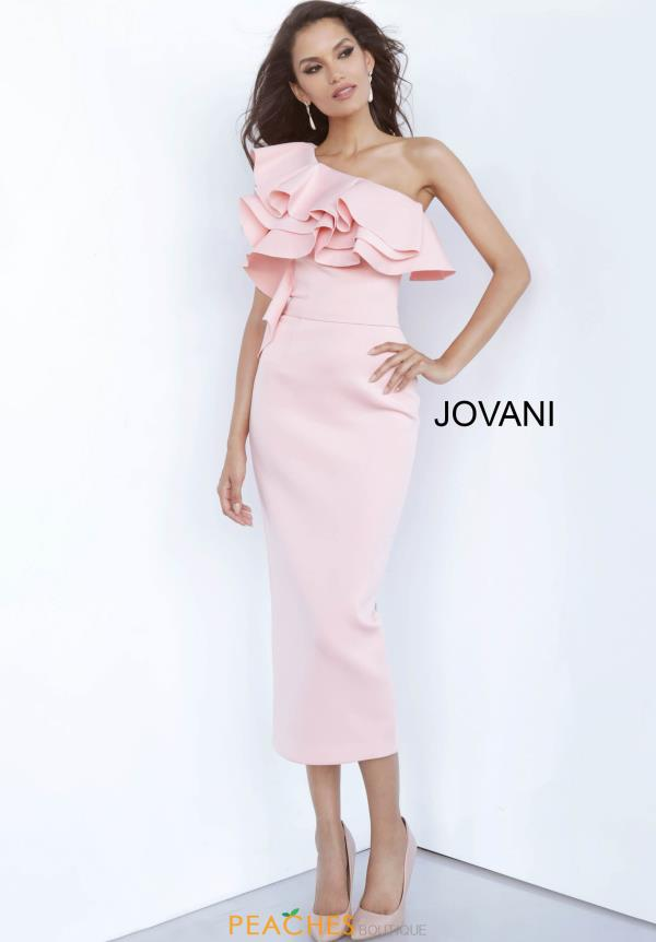 Jovani Short One Shoulder Fitted Dress 1306