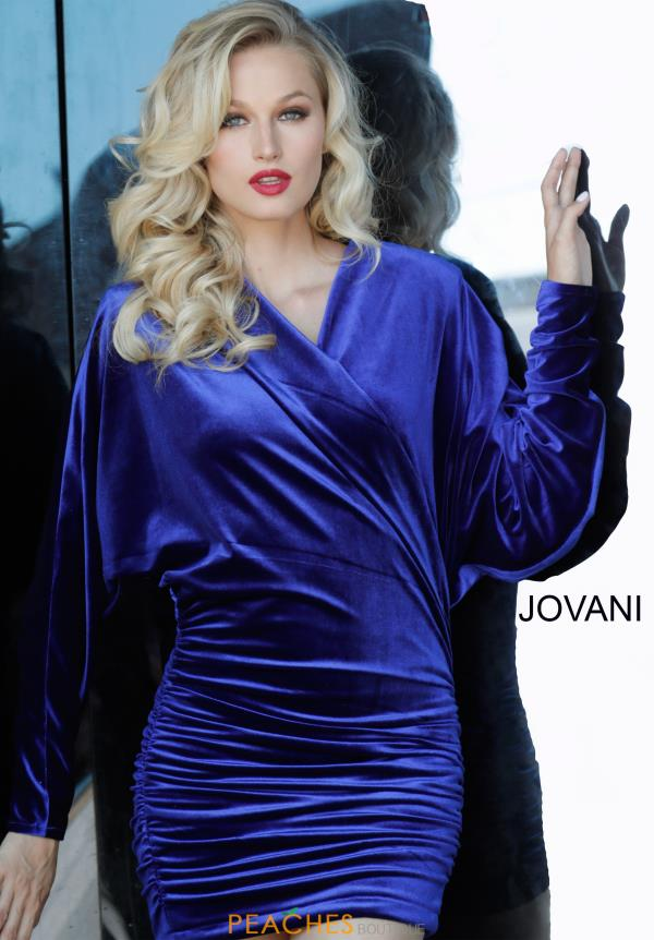 Jovani Short Fitted Sleeved Dress 3580