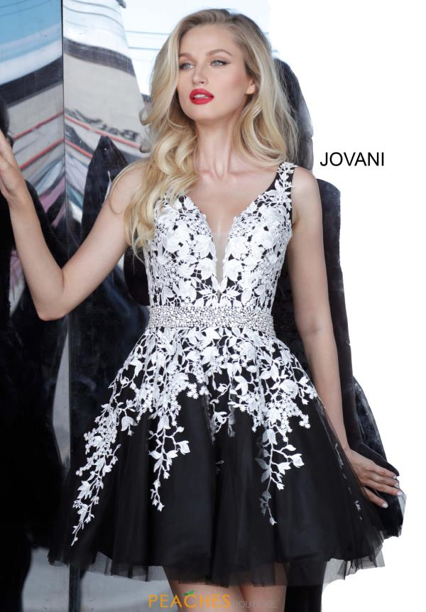 Jovani Short Applique Black Dress 4625