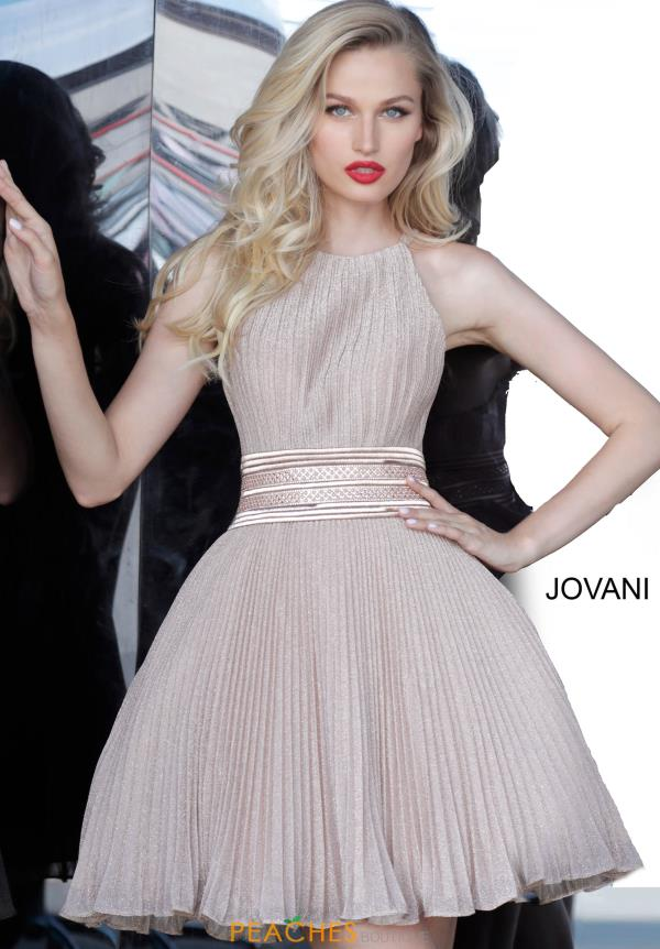 Jovani Short Pleated Skirt A Line Dress 4664