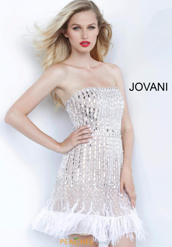 Jovani Short Strapless Beaded Dress 67278