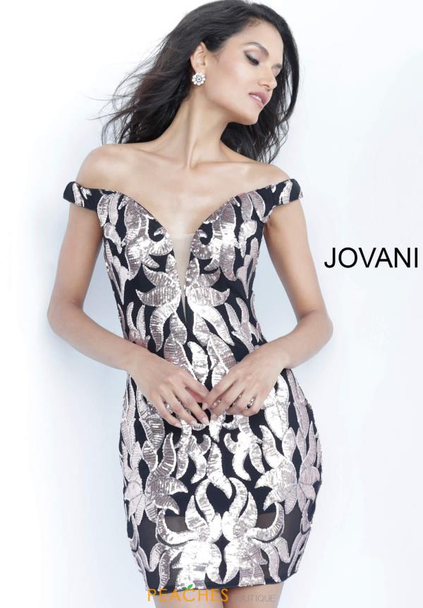 Jovani Short Cap Sleeved Beaded Dress 8004