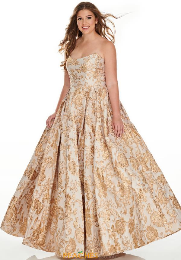 Rachel Allan Floral Ball Gown Dress 7224