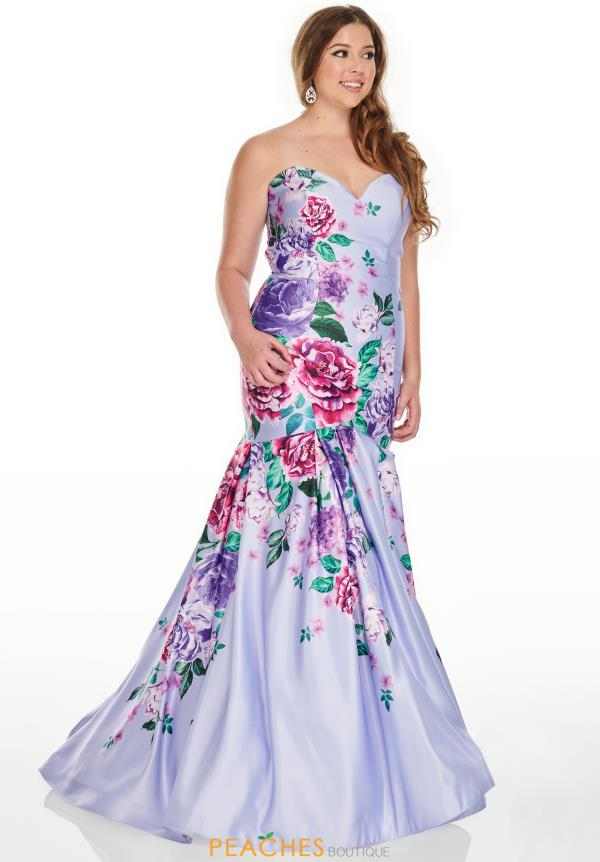 Rachel Allan Fitted Mermaid Dress 7238