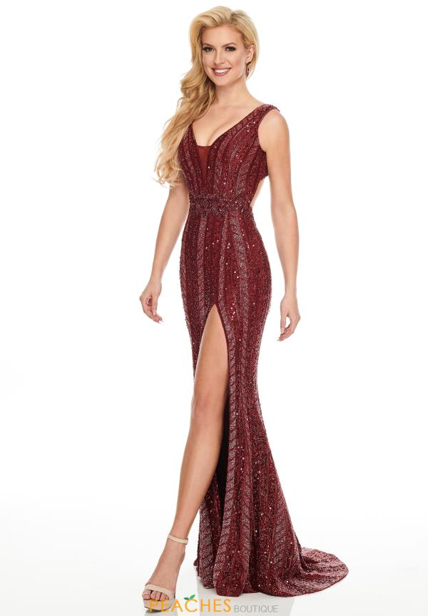 Rachel Allan Beaded Fitted Dress 8432