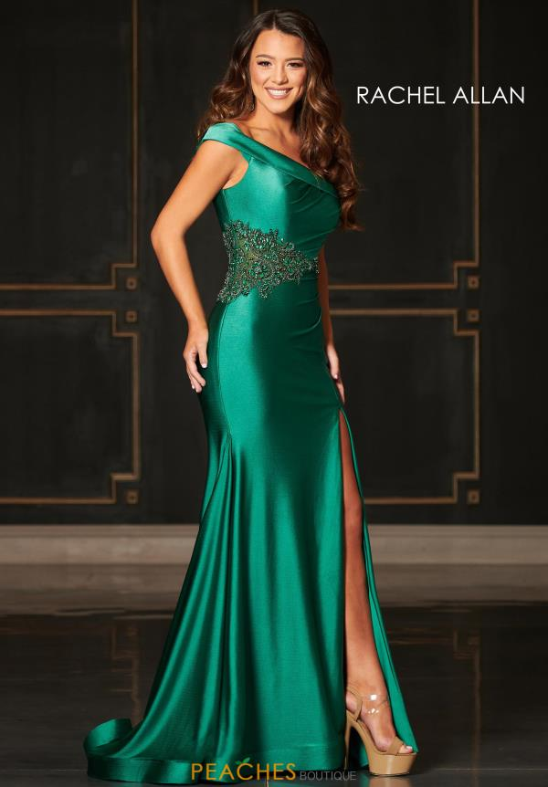 Rachel Allan Long Fitted Dress 8440