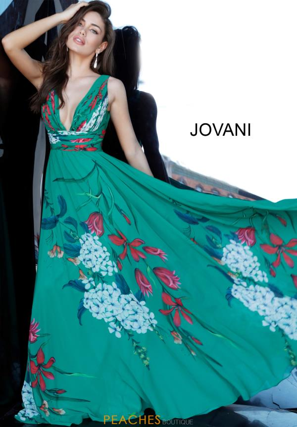 Jovani Printed A Line Dress 1033