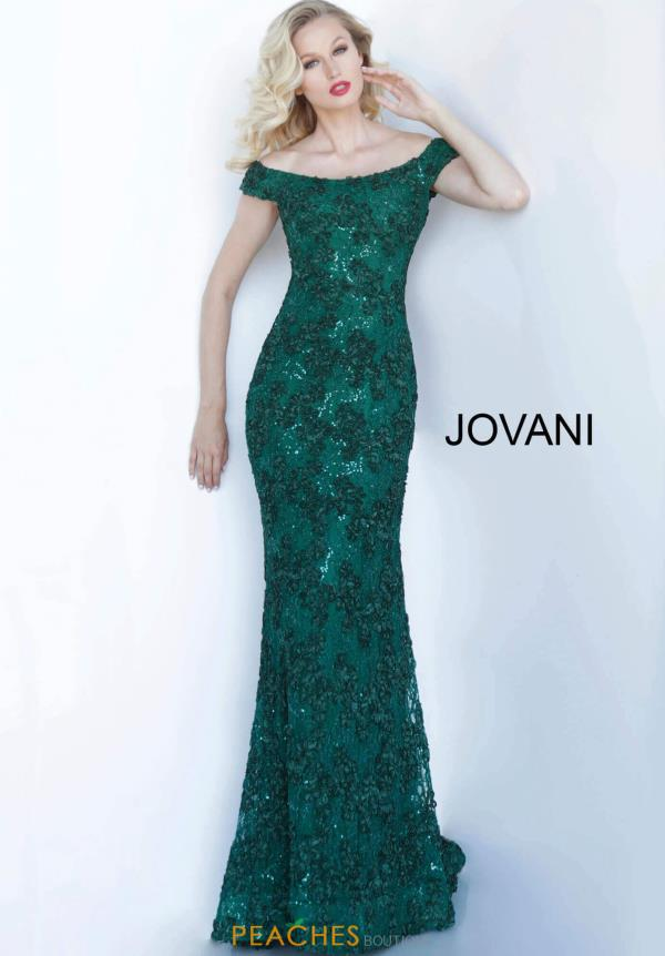 Jovani Long Cap Sleeve Dress 1910