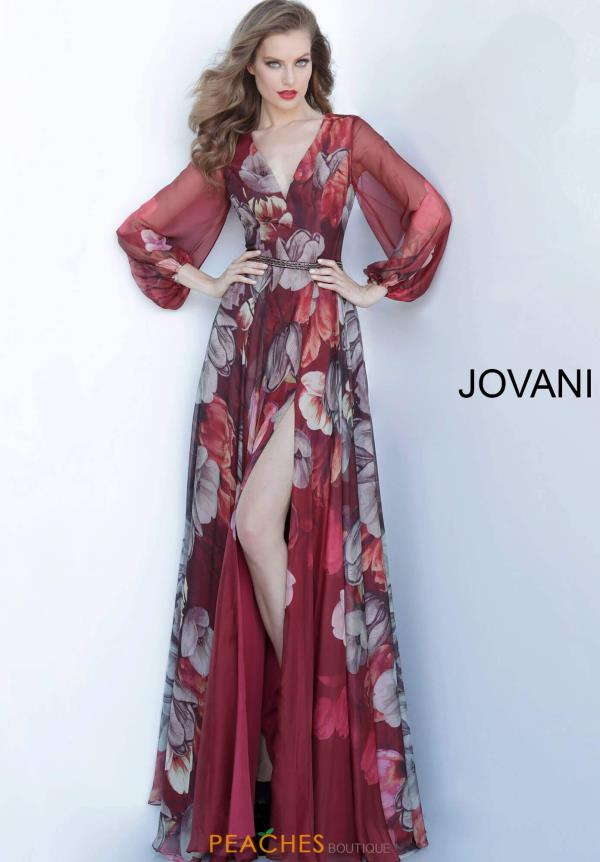 Jovani Long Chiffon Dress 2024