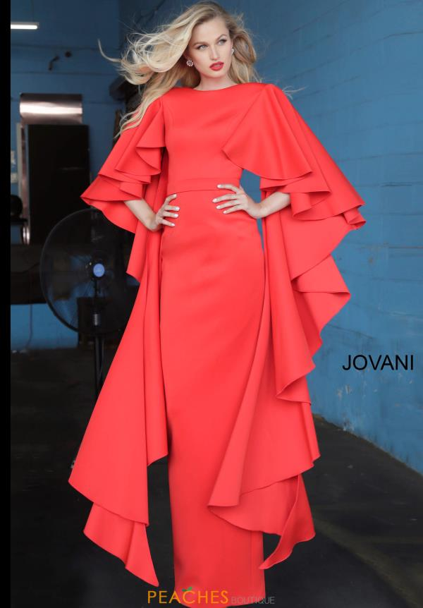 Jovani Long Long Sleeve Dress 3018