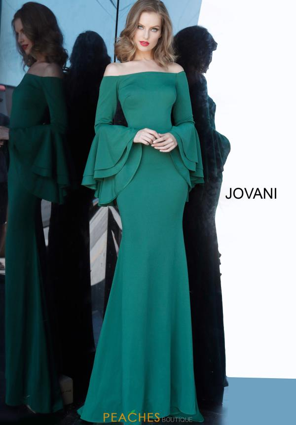 Jovani Off The Shoulder Fitted  Dress 3029