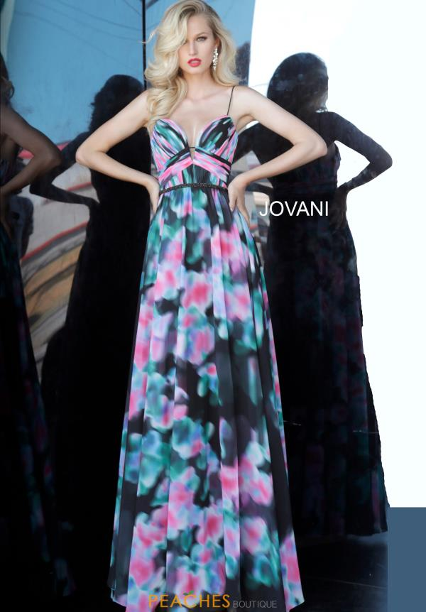 Jovani Long Chiffon Dress 65614