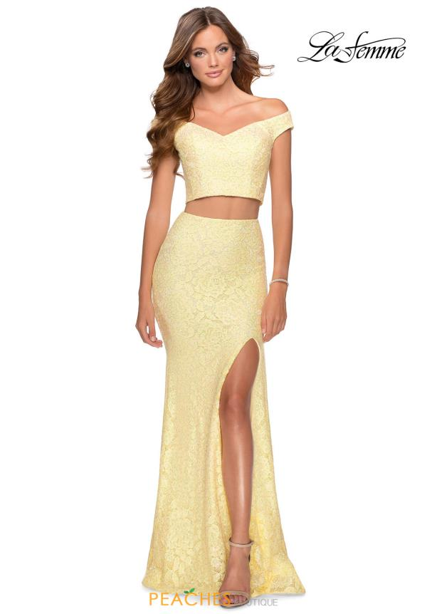 La Femme Two Piece Fitted Dress 28565