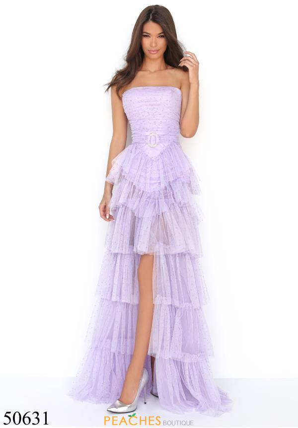 Tarik Ediz Beaded Strapless Dress 50631