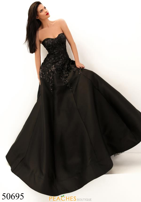 Tarik Ediz Strapless Ball Gown Dress 50695