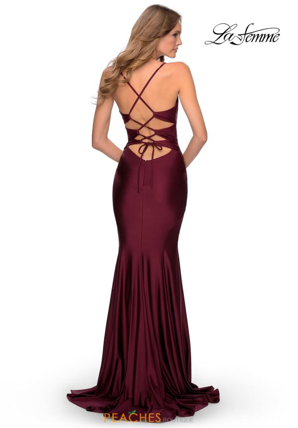 La Femme Fitted Jersey Dress 28574