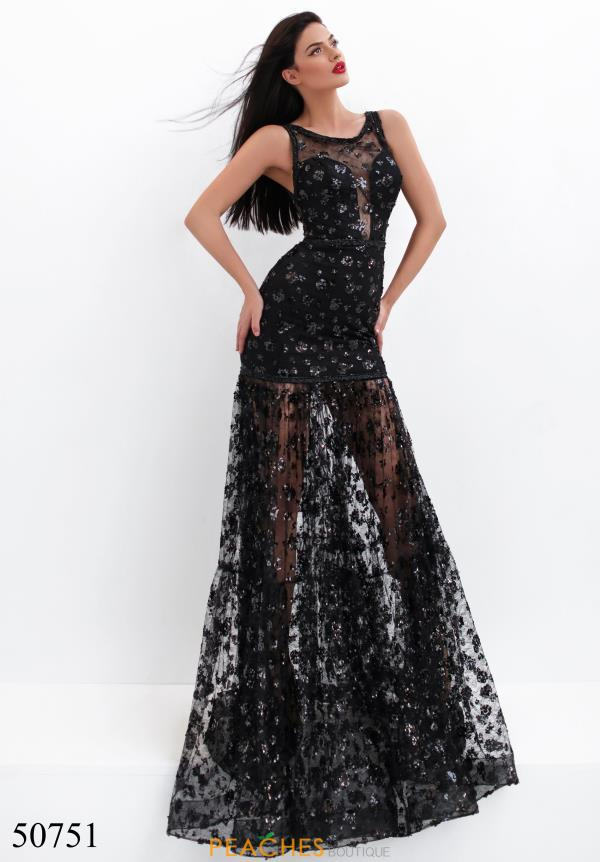 Tarik Ediz Fitted Beaded Dress 50751