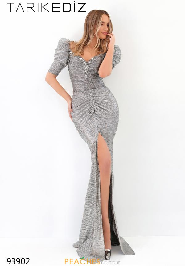 Tarik Ediz Fitted V Neck Dress 93902