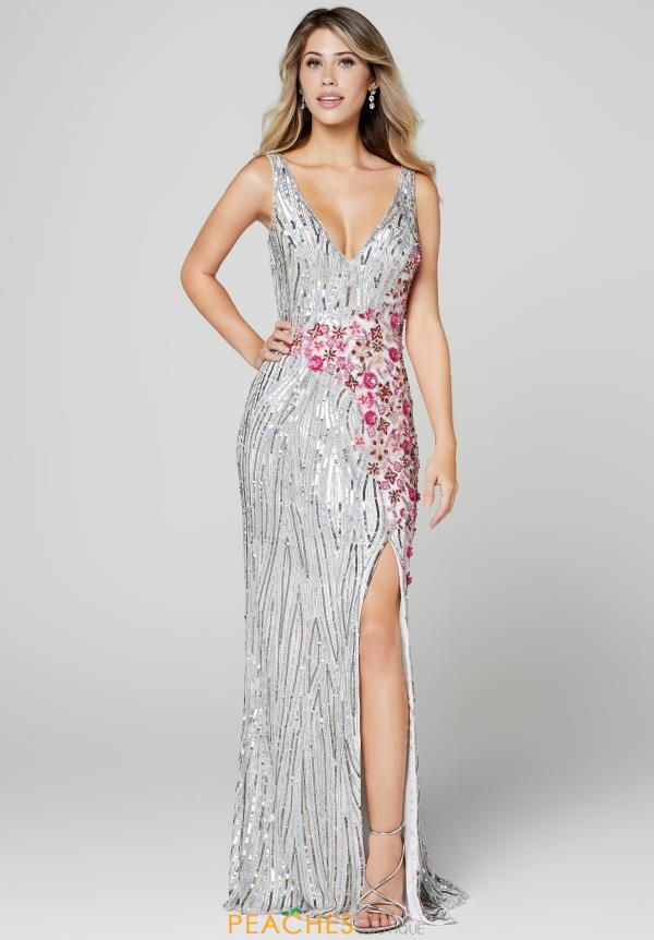 Primavera Fully Beaded Fitted Dress 3408