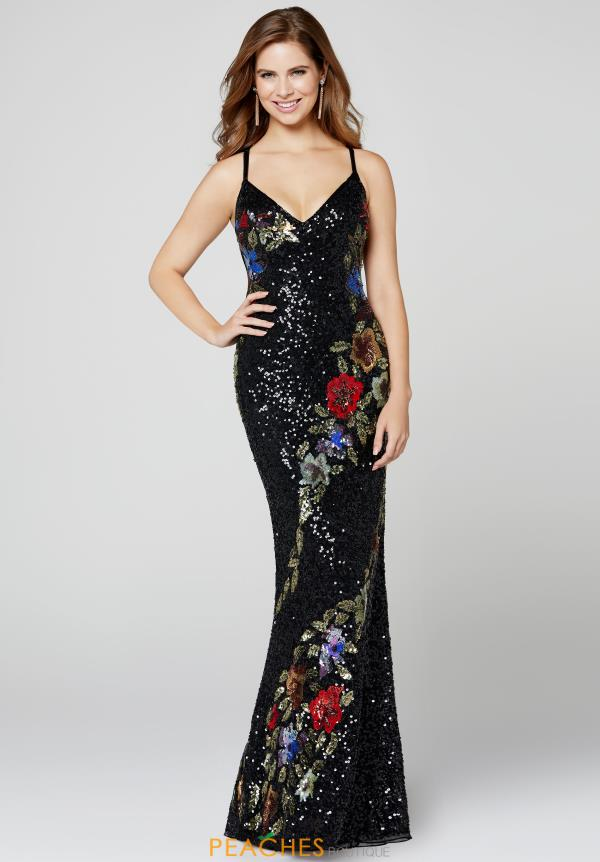 Primavera V-Neck Sequins Dress 3410