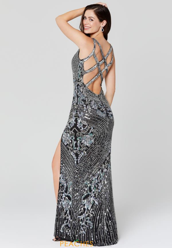 Primavera V-Neck Sequins Dress 3412