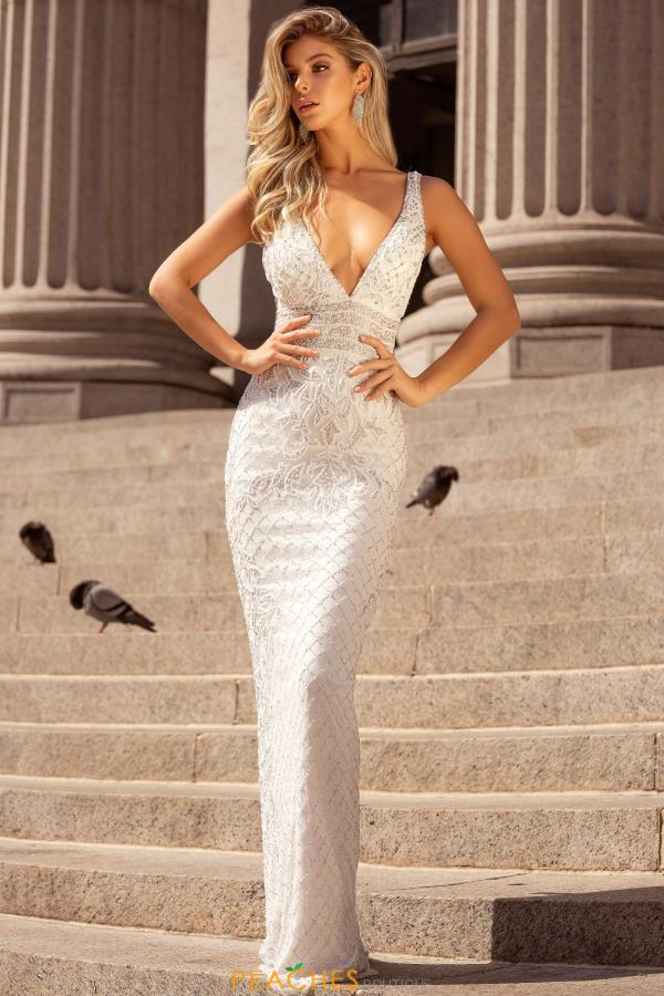 Primavera V-Neck Sequins Dress 3425