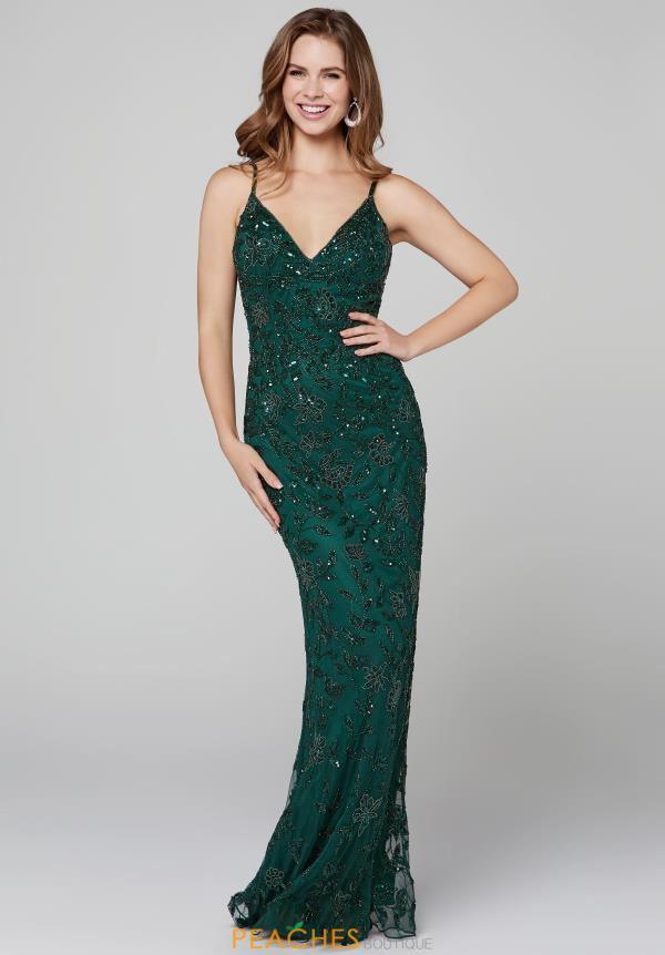 Primavera Fully Beaded Fitted Dress 3430