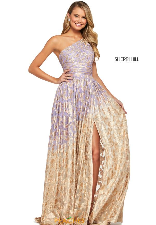 Sherri Hill Single Shoulder Beaded Dress 53376