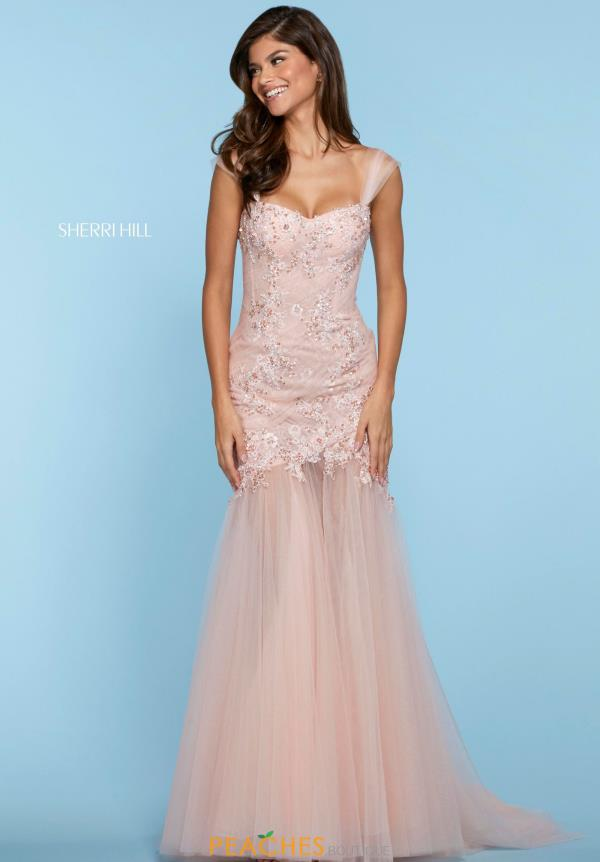 Sherri Hill Cap Sleeve Beaded Dress 53415