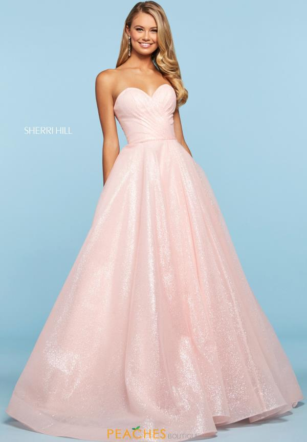 Sherri Hill Sweetheart Glitter Dress 53419