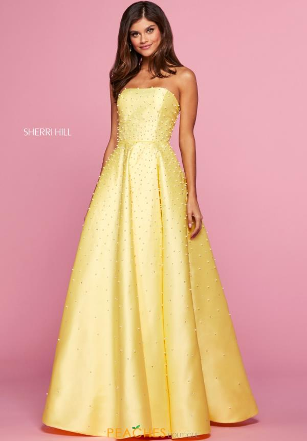 Sherri Hill Strapless A Line Dress 53421