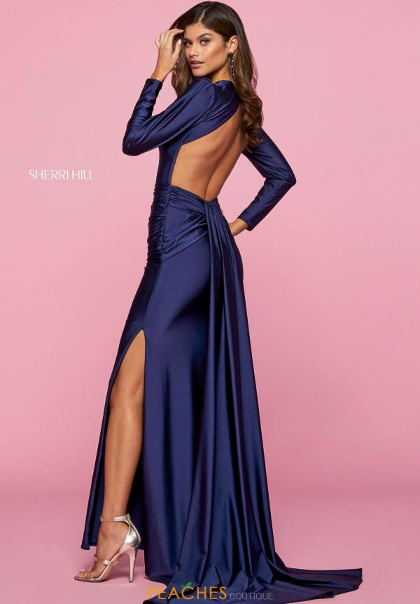 Sherri Hill Long Sleeve Jersey Dress 53433