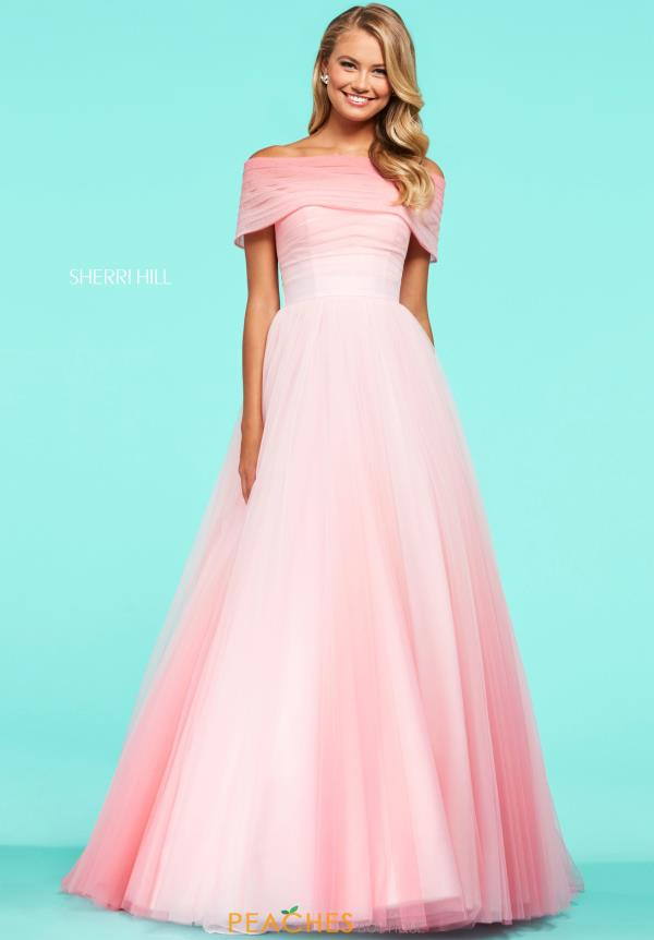 Sherri Hill Off the Shoulder Dress 53438