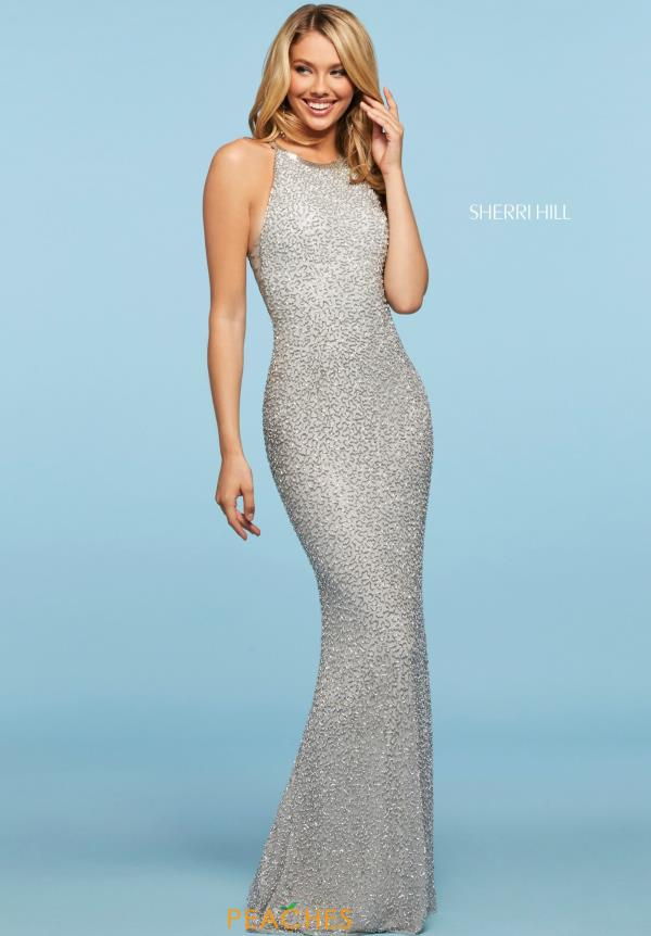 Sherri Hill High Neckline Sequins Dress 53440