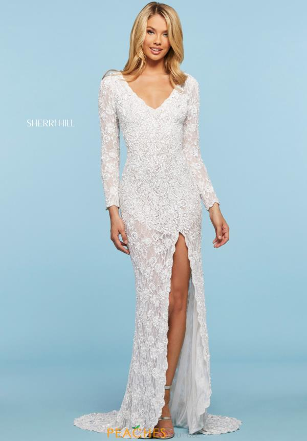Sherri Hill V-Neck Beaded Dress 53443