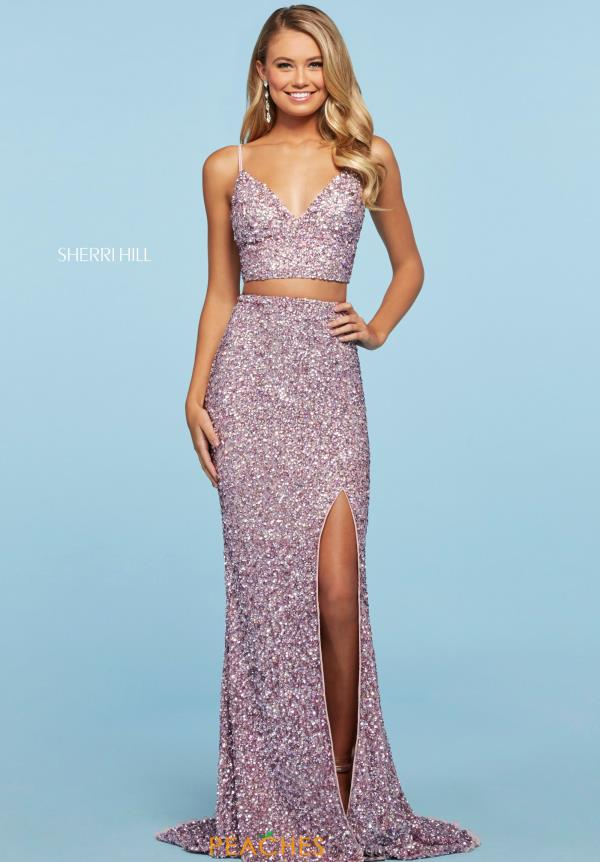 Sherri Hill Two Piece Sequins Dress 53448