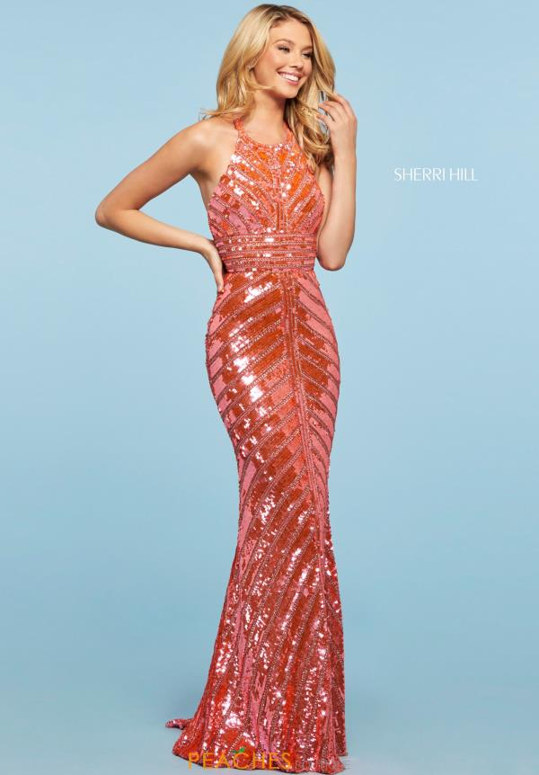Sherri Hill Fully Beaded Long Dress 53455