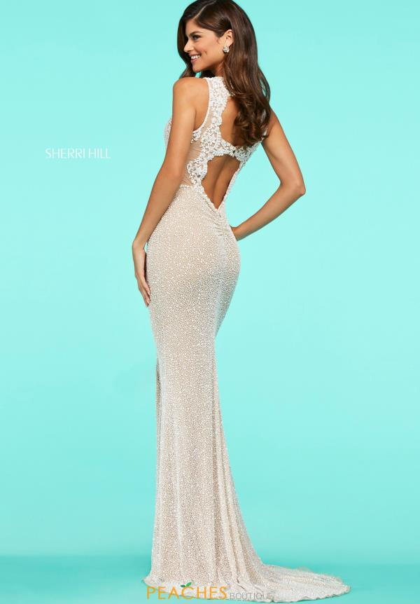 Sherri Hill Beaded High Neckline Dress 53490