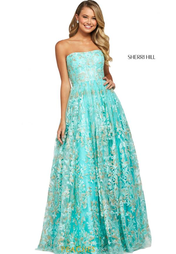 Sherri Hill Strapless A Line Dress 53513