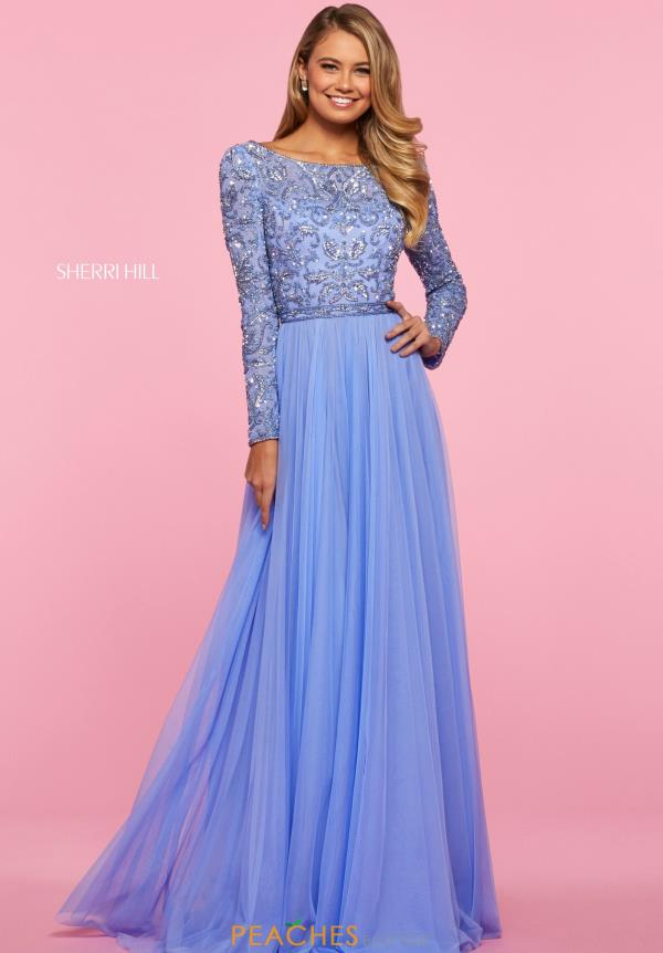 Sherri Hill Beaded A Line Dress 53560