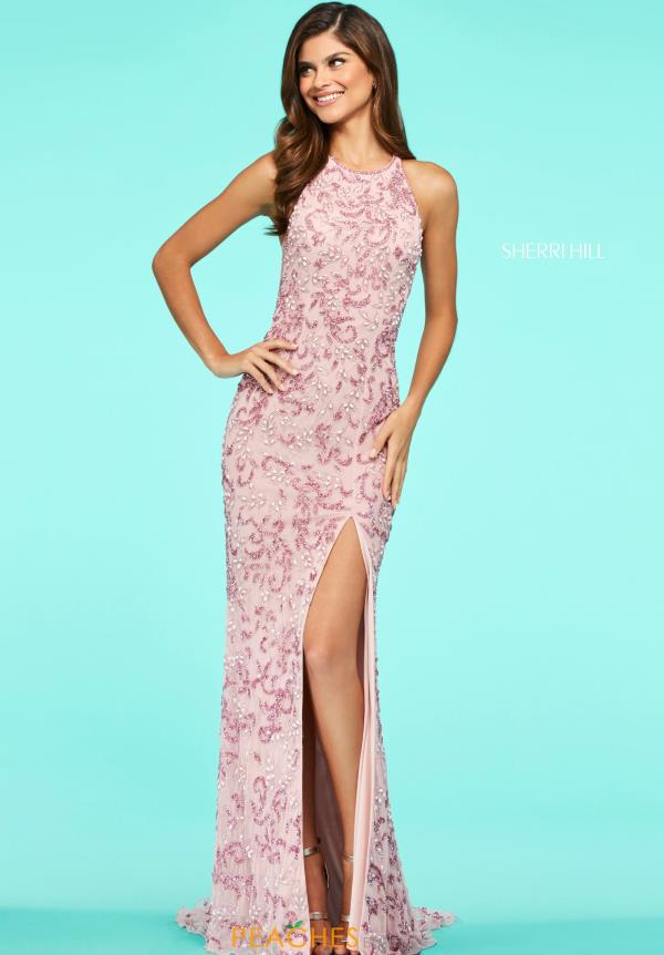 Sherri Hill Fitted Beaded Dress 53564