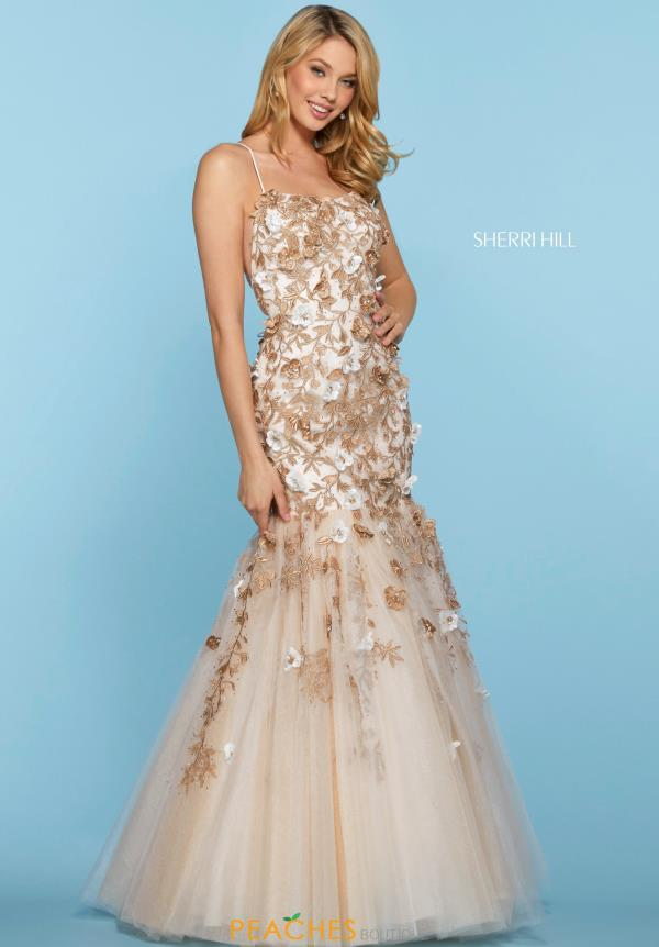 Sherri Hill Floral Mermaid Dress 53588